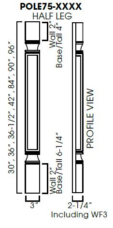 AG-POLE75-W336